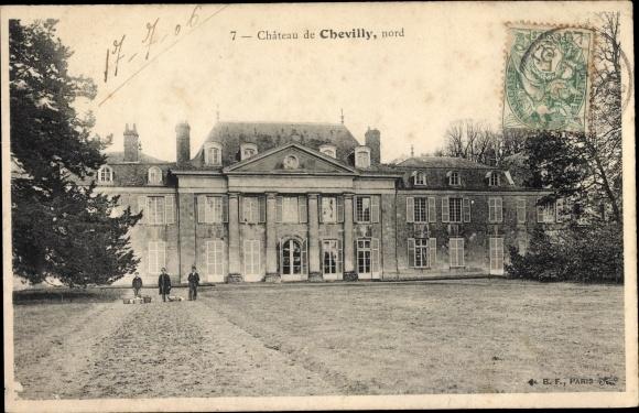 Ak Chevilly Loiret, Chateau, nord 0