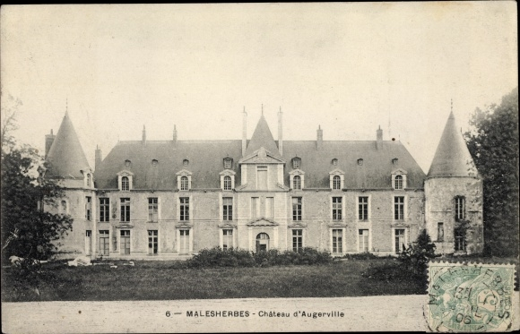 Ak Malesherbes Loiret, Chateau d´Augerville 0