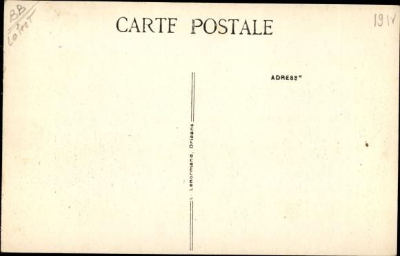 Ak Marcilly-en-Villette Loiret, Chateau d´Alosse, L´Etang 1