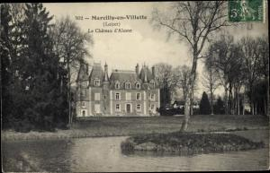 Ak Marcilly-en-Villette Loiret, Le Chateau d´Alosse