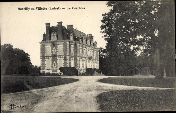Ak Marcilly-en-Villette Loiret, Le Cerfbois 0