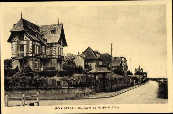 Ak Riva Bella Calvados, Boulevard du Maréchal Joffre 0