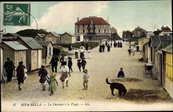 Ak Riva Bella Ouistreham Calvados, Descente à la Plage 0