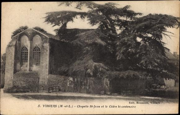 Ak Vihiers Maine et Loire, Chapelle Saint Jean, La Cedre bi centenaire 0