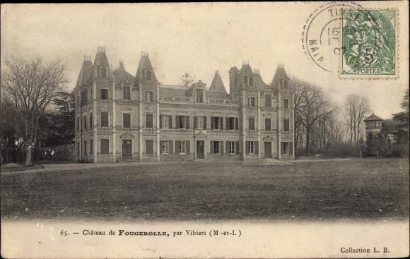 Ak Vihiers Maine et Loire, Chateau de Fougerolle 0