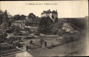 Ak Vihiers Maine et Loire, L'Hopital et la Lys
