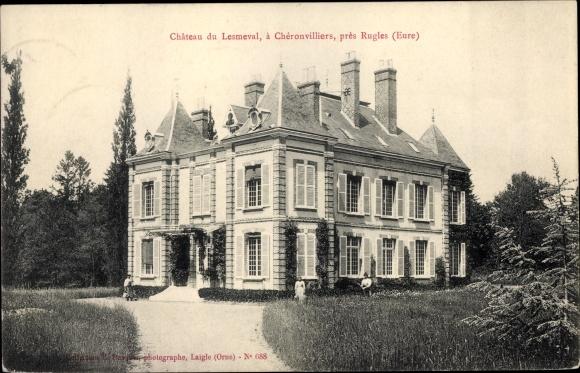 Ak Chéronvilliers Eure, Château de Lesmeval 0