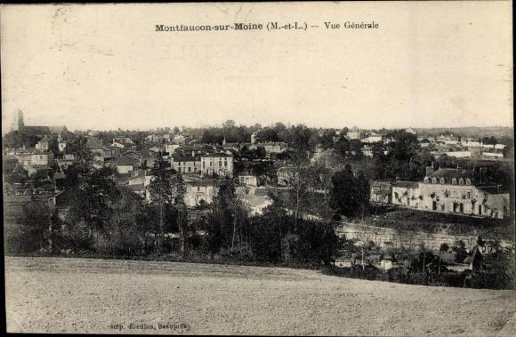 Ak Montfaucon sur Moine Maine et Loire, Vue generale 0