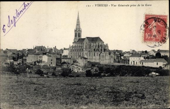 Ak Vihiers Maine et Loire, Vue generale prise de la Gare 0