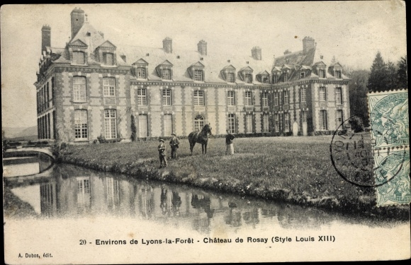 Ak Lyons la Forêt Eure, Château de Rosay 0