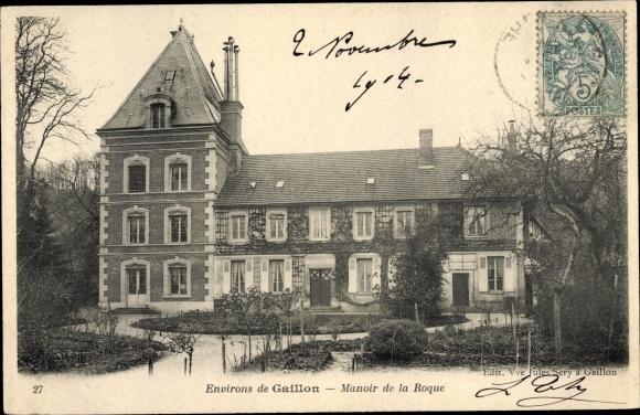Ak Gaillon Eure, Manoir de la Roque 0