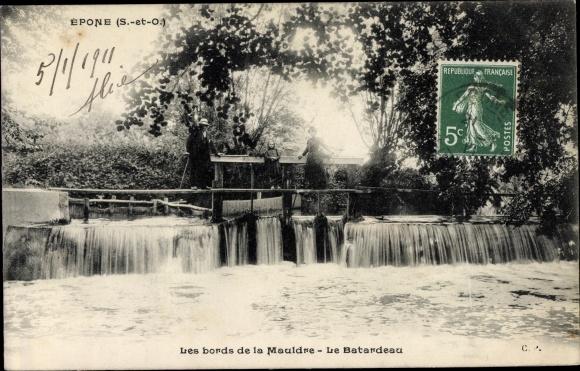 Ak Epone Yvelines, Bords de la Mauldre, Le Batardeau 0