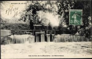 Ak Epone Yvelines, Bords de la Mauldre, Le Batardeau