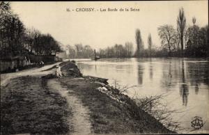 Ak Croissy Yvelines, Bords de la Seine