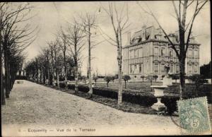 Ak Ecquevilly Yvelines, Vue de la Terrasse