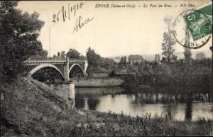 Ak Epone Yvelines, Pont du Bras