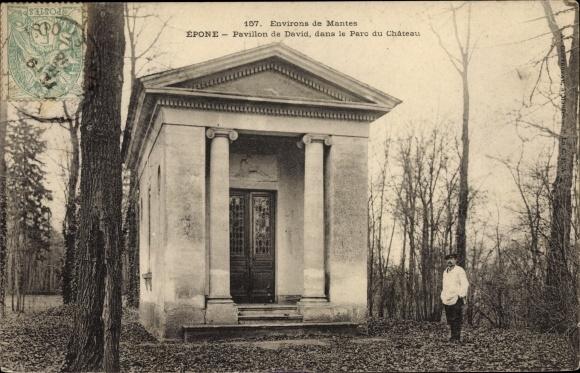 Ak Epone Yvelines, Pavillon de David dans le Parc du Château 0