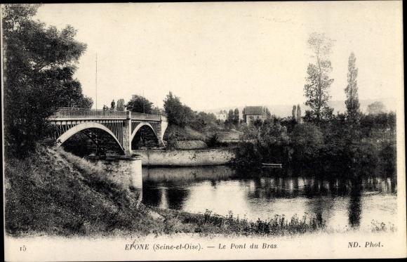 Ak Epone Yvelines, Pont du Bras 0
