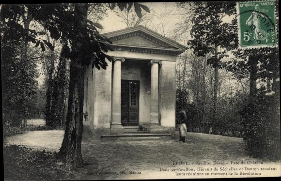 Ak Epone Yvelines, Pavillon David dans le Parc du Château 0