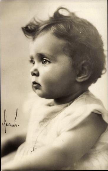 Ak Prinzessin Birgitta von Schweden, Portrait als Baby 0