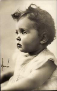 Ak Prinzessin Birgitta von Schweden, Portrait als Baby