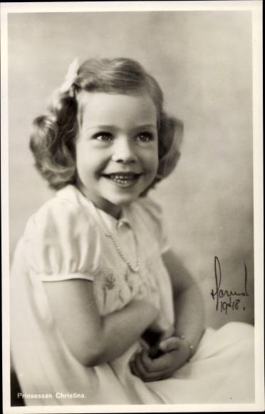 Ak Prinzessin Christina von Schweden, Portrait, 1948 0