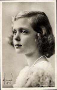 Ak Prinzessin Birgitta von Schweden, Portrait, 1948