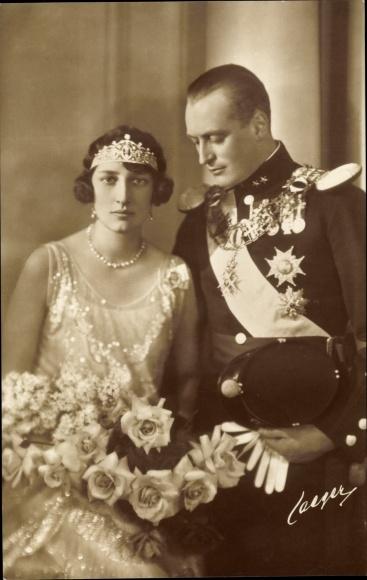 Ak König Olav V von Norwegen, Märtha von Schweden, Hochzeit 0