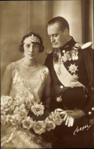 Ak König Olav V von Norwegen, Märtha von Schweden, Hochzeit