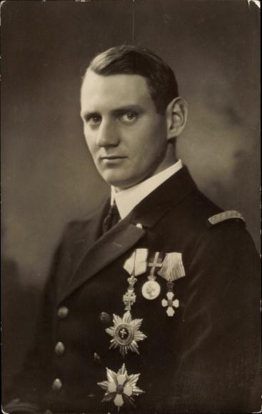 Ak Kronprinz Frederik von Dänemark, Frederik IX, Portrait 0