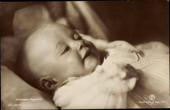 Ak Prinzessin Ragnhild von Norwegen, Portrait als Baby 0