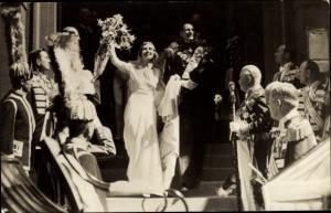 Ak Kronprinz Frederik von Dänemark, Ingrid von Schweden, Hochzeit