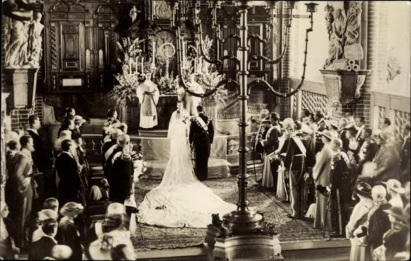 Ak Hochzeit Frederik von Dänemark, Ingrid von Schweden 0