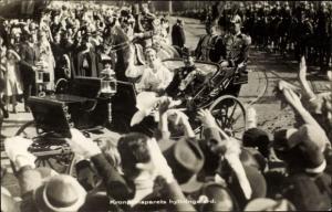 Ak Hochzeit Frederik von Dänemark, Ingrid von Schweden