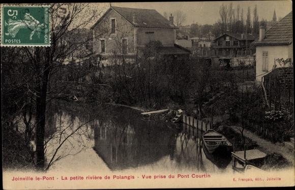 Ak Joinville le Pont Val de Marne, Le petite riviere de Polangis, Vue prise du Pont Courtin 0