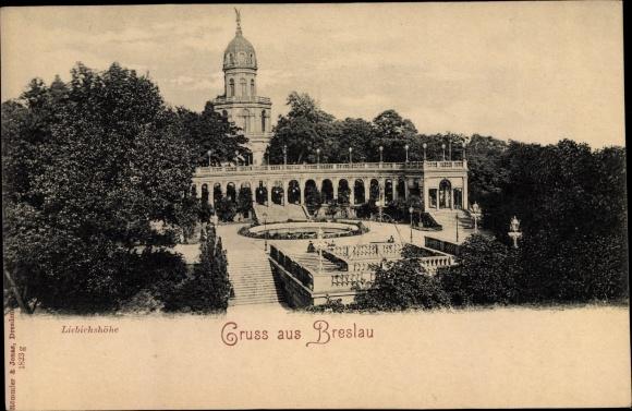 Ak Wrocław Breslau Schlesien, Liebichshöhe 0
