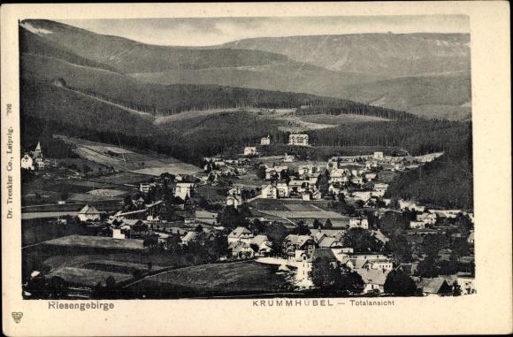 Ak Karpacz Krummhübel im Riesengebirge Schlesien, Totalansicht, Trenkler 0