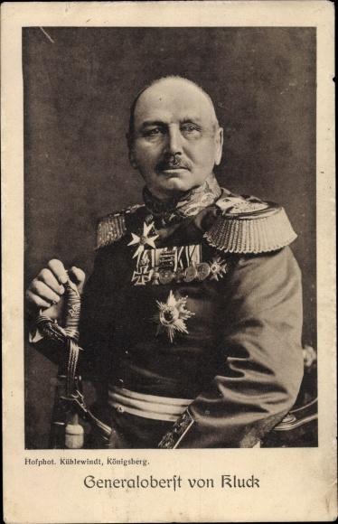 Ak Generaloberst Alexander von Kluck, Portrait in Uniform 0