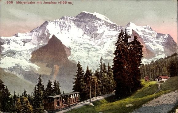 Ak Kanton Bern, Eiger, Mönch, Jungfrau, Mürrenbahn, Jungfrau 0