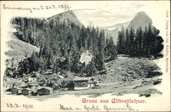 Litho Altbreitlahner bei Ginzling in Tirol, Holzbauten, Nadelwald 0