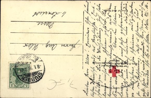 Ak Poznań Posen, Kaiser Wilhelm II. mit Generalfeldmarschall Paul von Hindenburg, Juli 1915 1