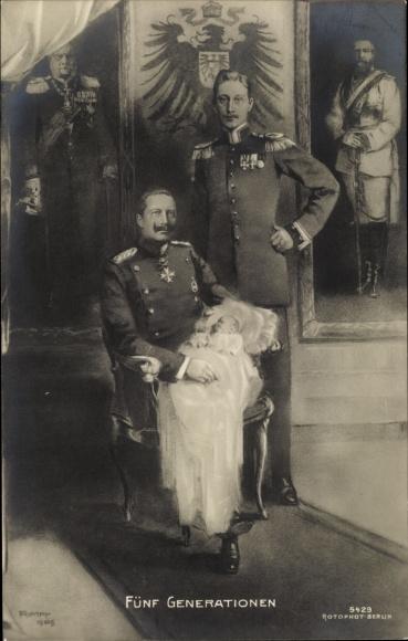 Künstler Ak Kaiser Wilhelm II., Kronprinz Wilhelm von Preussen, Enkel, Gemälde, RPH 5429 0