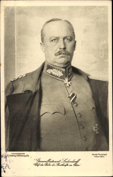 Ak General Erich Friedrich Wilhelm Ludendorff 0