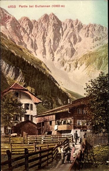 Ak Guttannen Kanton Bern, Teilansicht, Berge 0