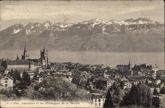 Ak Lausanne Kanton Waadt, Les Montagnes de la Savoie 0