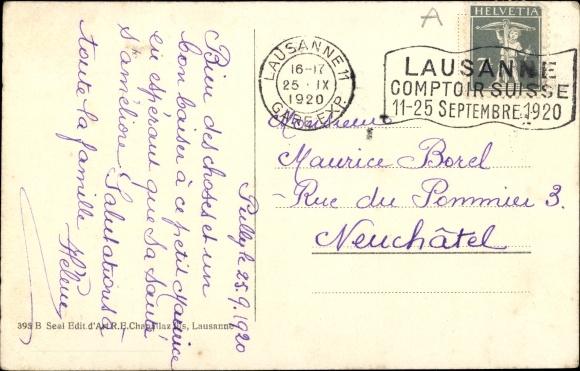 Ak Lausanne Kanton Waadt, Sur la Rive Vaudoise 1
