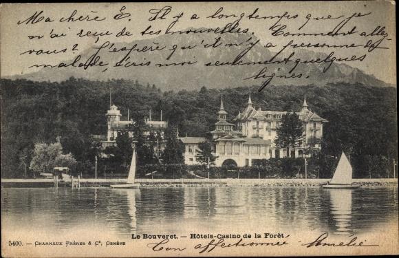 Ak Le Bouveret Kanton Wallis, Hotels-Casino de la Foret, Segelboote 0