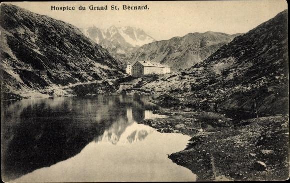 Ak St Bernard Sankt Bernhard Wallis, Hospice 0