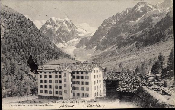 Ak Arolla Kanton Wallis, Hotel et Mont-Collon 0