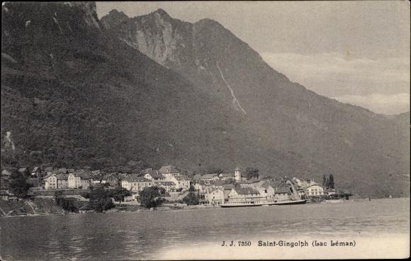 Ak Saint Gingolph Kanton Wallis Schweiz Lac Leman 0